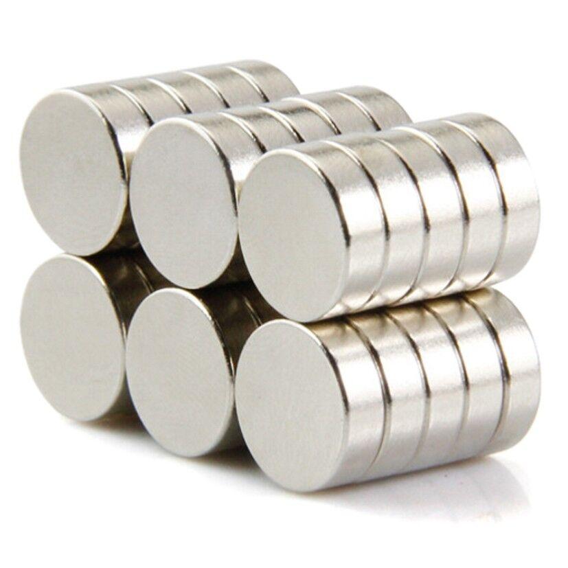 Neodym Magnete super stark Scheiben Würfel N35 N45 N50 doppelt vernickelt Scheibe - Ø 5 X 2mm