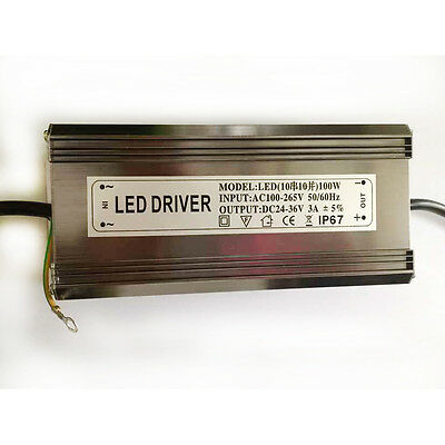 100w Watt High Power Led Power Supply Driver Ac85v-265v 50-60hz Waterproof