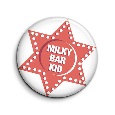 RETRO 1970's, MILKY BAR KID 25mm Button Badge. FREE POST