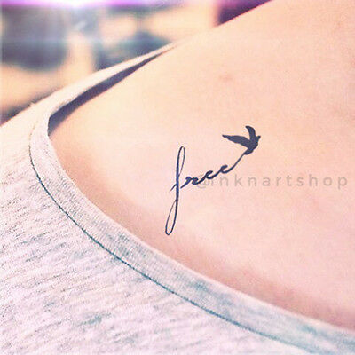 SALE - 4pcs free flying birds - InknArt Temporary Tattoo - wrist quote fake