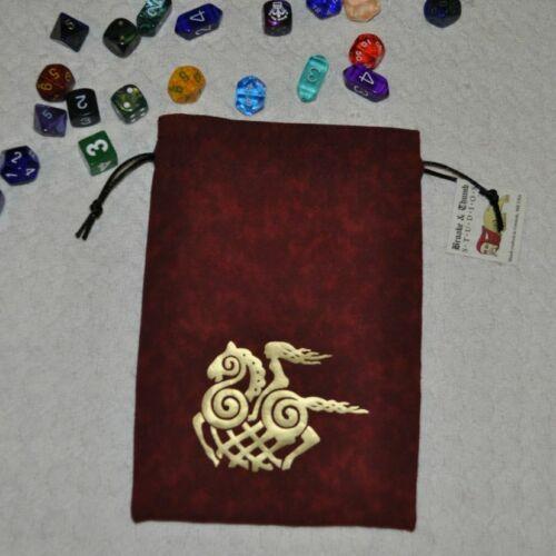 Viking sleipnir goddess horse asatru stallion valkyrie red rune bag dice bag