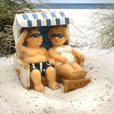 Terrasse Hose (Urlauberpärchen im Strandkorb mit Sonnenbrille, Badehose & Bikini (Frau & Mann))