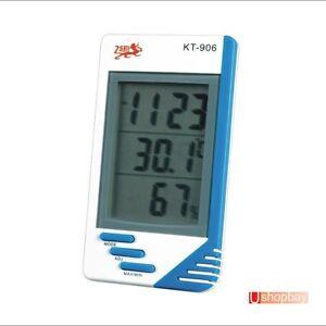 thermometer humidity temperature led kid room clock ebay. Black Bedroom Furniture Sets. Home Design Ideas