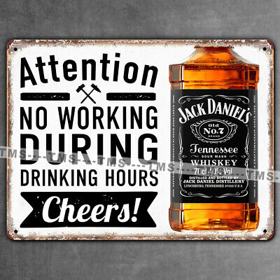 JACK DANIELS FUNNY SIGN RETRO MAN CAVE KITCHEN BAR VINTAGE METAL WALL PLAQUE