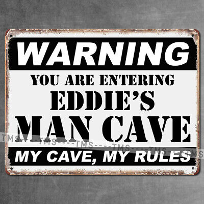 PERSONALIZED METAL SIGN MAN CAVE VINTAGE RETRO GARAGE BAR PLAQUE BEST MAN GIFT