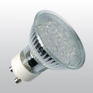 20LEDs GU10 LED Strahler Lampe Leuchtmittel Birne Warmweiß 230V Halogen Ersatz