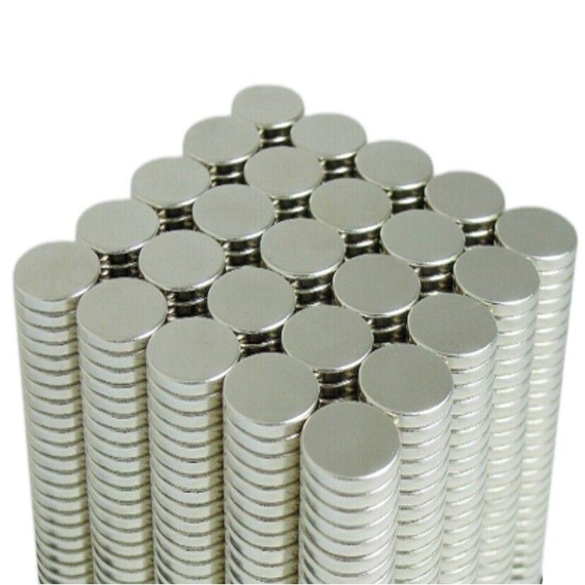 Neodym Magnete super stark Scheiben Würfel N35 N45 N50 doppelt vernickelt Scheibe - Ø 20 X 3mm