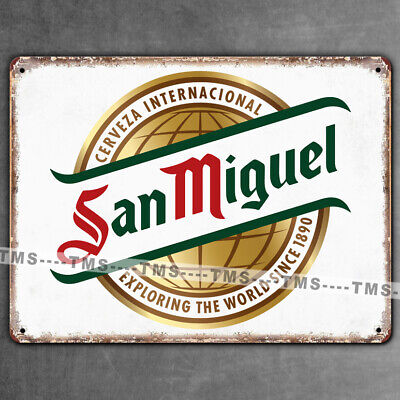SAN MIGUEL SIGN RETRO BEER MAN CAVE BAR VINTAGE TIN METAL PUB KITCHEN PLAQUE