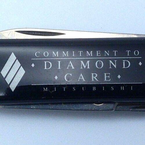 Mitsubishi Diamond Care Black Victorinox Swiss Army Knife in Box Advertising