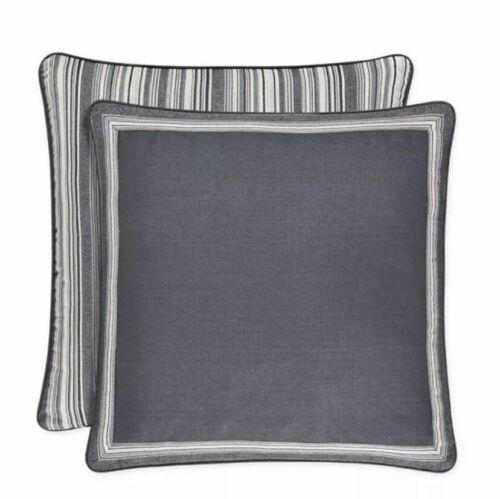 J Queen European Pillow Sham Miranda Euro Sham New Grey Bedding