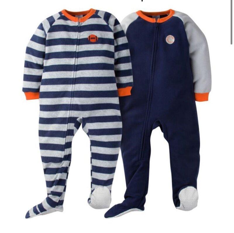 2-Pack Toddler Boy Sport Stripe Blanket Sleepers