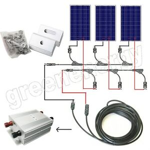 Complete PV kits 600W 500W 400W 300W 200W 100W  off grid solar cell panel system