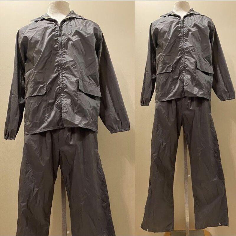VTG 70's KMART Jogging Suit Olive Track Suit Walking Suit Sweat Suit 2 Piece MED