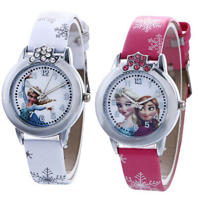 Disney Frozen Elsa & Anna Girls Kids Children Party Cartoon Gift Wrist Watch
