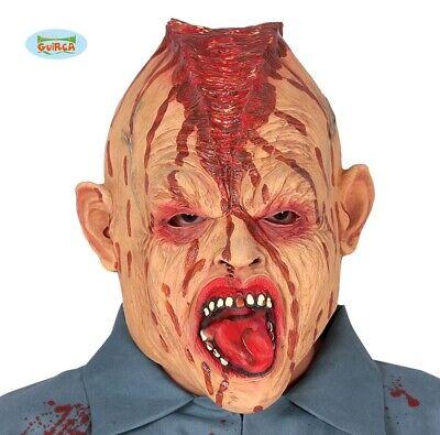 Erwachsene Halloween Horror Kopf Schnittwunde Monster Kostüm Maske Gory Neu - Kopf Wunde Kostüm