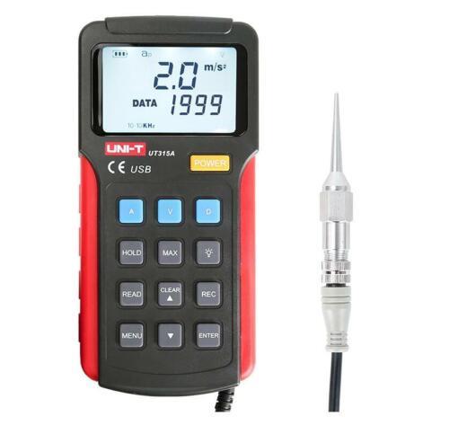 UT315A UNI-T Handheld Bibration Tester Speed/Displacement Split Vibrometer L