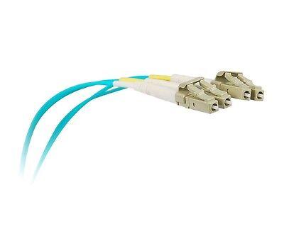 1M OM3 LC/LC Duplex Multimode 10gb Fiber Cable Aqua