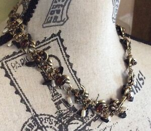Beautiful! Signed Mary Demarco Antiqued Metal Dragonfly Accent Necklace!
