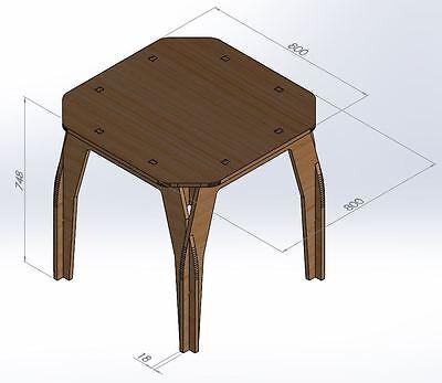 Square Table Vectors 2D CNC Router Laser Plans DXF Files ArtCAM VCarve Woodwork