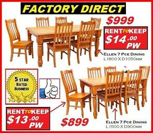 New Dining Suites Solid Chunky Strong.CASH OR RENT $13 P/W Ipswich Region Preview