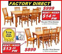 Brand New Dining Suites Solid Chunky Strong.CASH OR RENT $13 P/W Ipswich Region Preview