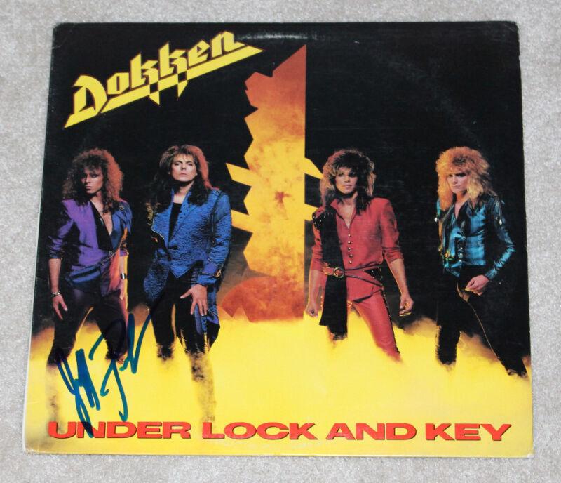 JEFF PILSON SIGNED AUTHENTIC DOKKEN 'UNDER LOCK AND KEY' VINYL RECORD LP w/COA