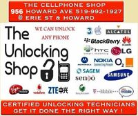 THE CELL SHOP UNLOCKING SERVICE - LIFE WARRANTY - 519 992 1927