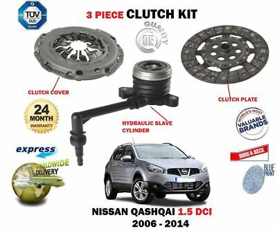 FOR NISSAN QASHQAI 1.5 DCI 2006-2014 CLUTCH KIT + HYDRAULIC CONCENTRIC SLAVE
