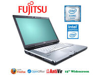 "Could Deliver - Fujitsu 15"" Laptop - Very fast, fresh software, 6 hours battery life, DVD-RW, Office"