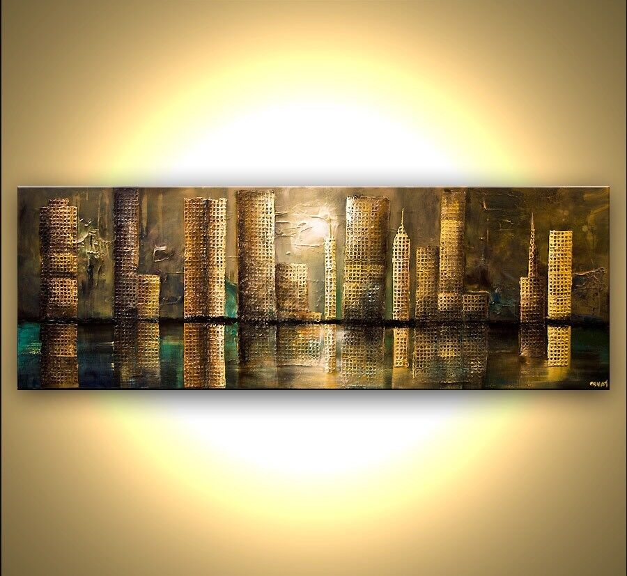 'City' Landscape wall decor , good as new , excellent quality
