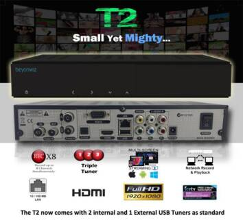 Beyonwiz T2 - Triple Tuner PVR - Record 8 Channels at Once