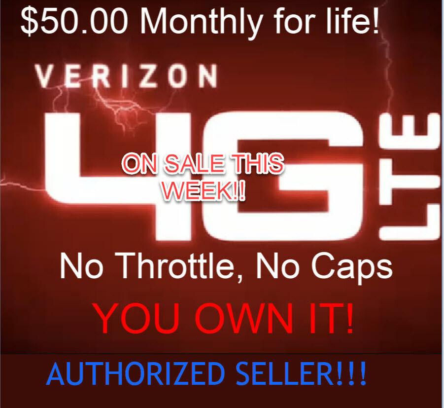 Verizon Unlimited Data Plan - $50 Monthly - No cap or Thrott