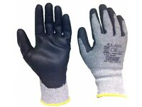 12 pairs Klass cut 5 UP coated work gloves