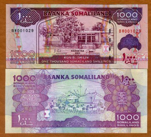 Somaliland, 1000 shillings, 2011, P-20, UNC
