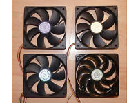 4 x CoolerMaster 120mm PC Case Cooling Fan