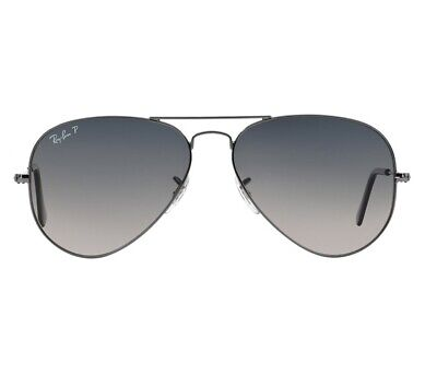 New Ray Ban Sunglasses AVIATOR Pilot Style RB3025 004/78 Polarized Blue Lens