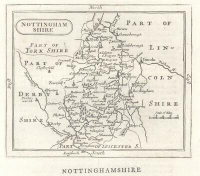 c1780 Original Antique Map NOTTINGHAMSHIRE by John Seller / Francis Grose (GR)