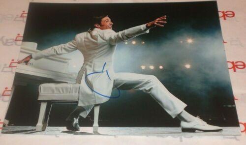 HUGH JACKMAN SIGNED WHITE SUIT & PIANO 8X10 PHOTO AUTO COA GREATEST SHOWMAN XMEN