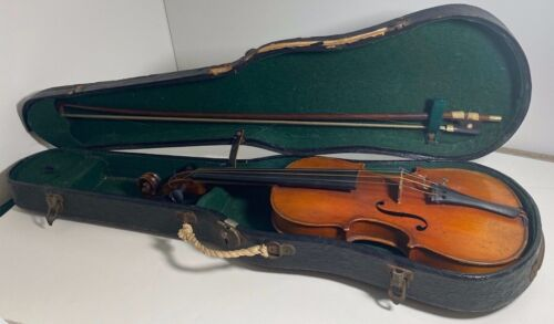 Early 1900s Childs Violin w/ Wooden Leather Case