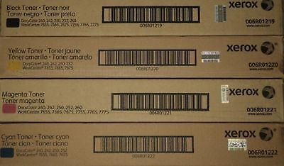 Genuine Xerox Docucolor 240242250252260 Toner Cymk