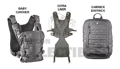 Mission Critical Front Baby Carrier   Daypack Carrier   Ext  Liner Gray Grey New