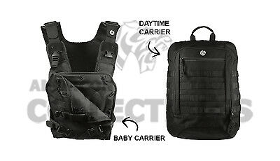Mission Critical Tactical Front Baby Carrier   Daypack Carrier Bundle Black 2017