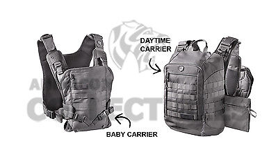 Mission Critical Tactical Front Baby Carrier   Daypack Carrier Bundle Gray Grey