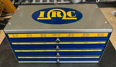 Vintage Irc Resist-o-cabinet Resistors Storage Lots Of Resisters Inside