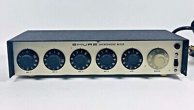 Shure Brothers Microphone Mixer Model M68 Electronic Music Equipment