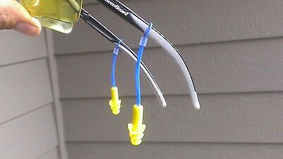 Attachable Reusable Earplugs For Safety Glasses