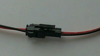 Lot Of 5 Power Jack Plug 2 Pin Wire Socket Connector Lead 22 Awg Led