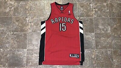 Vince Carter NBA Toronto Raptors Reebok Jersey #15 Red Mens Sz L Stitched