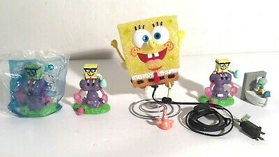LOT OF 6 SPONGEBOB SQUAREPANTS ITEMS: TABLE LAMP & VARIOUS CHARACTER TOYS for sale  Princeton Junction