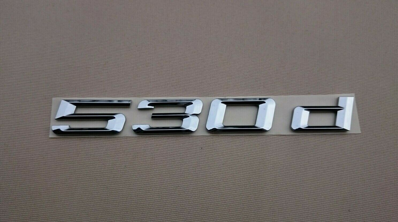 Heck Stamm 530d Schriftzug Chrom Abzeichen für BMW reihe 5